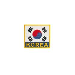 Kwon Stickabzeichen Flagge Korea 8x8