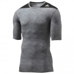 Deal Des Monats Adidas Techfit Base SS Grey Black