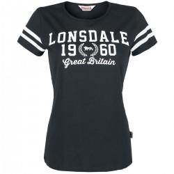 Lonsdale Wakefield Damen T-Shirt Black