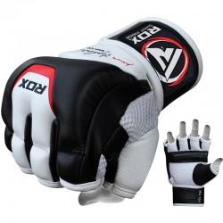 RDX MMA Trainingshandschuh T3 Leder weiss schwarz