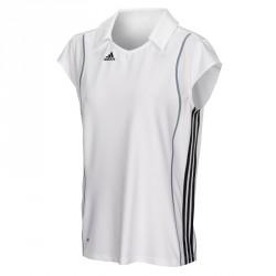 Abverkauf Adidas T8 Clima Polo Shirt Frauen Weiss