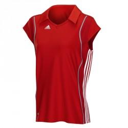 Abverkauf Adidas T8 Clima Polo Shirt Frauen Rot