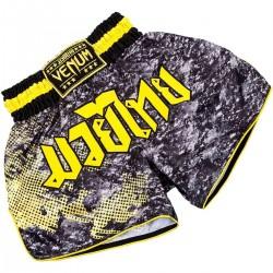 Venum Tramo Muay Thai Fightshorts Black Yellow