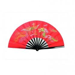 Phoenix Kung Fu Tai Chi Fächer Bambus Rot