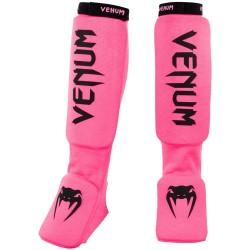Venum Kontact Shinguards Fluo Pink