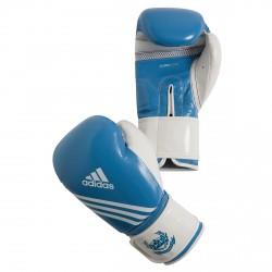 Abverkauf Adidas Fitness Boxhandschuhe blau weiss