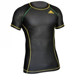 Abverkauf Adidas Rashguard Octagon Energy Black Green Yellow