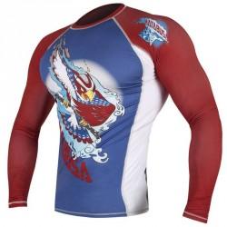 Abverkauf Hayabusa Ninja Falcon Rashguard LS Blue Red