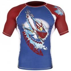 Abverkauf Hayabusa Ninja Falcon Rashguard SS Blue Red