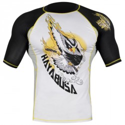 Abverkauf Hayabusa Ninja Falcon Rashguard SS Black Yellow