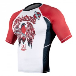 Hayabusa Showdown Rashguard SS White Red