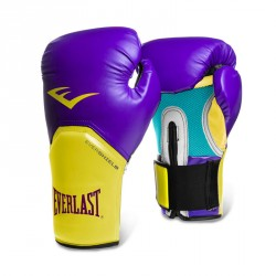 Everlast Elite Pro Style Glove Purple Yellow