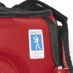 Abverkauf Paffen Sport Contest Wettkampf Kopfschutz mit DBV rot