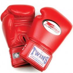 Twins BG-N Boxhandschuhe langer Klettverschluss Leder rot