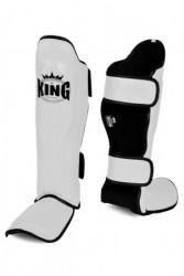 King Muay Thai Schienbeinschoner weiß