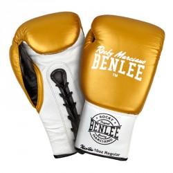 Abverkauf Benlee Professional Boxing Gloves Newton Gold White Black