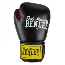 Benlee Leather Boxing Gloves Fighter Black Red