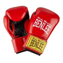 Abverkauf Benlee Leather Boxing Gloves Fighter Red Black