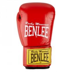 Benlee Leather Boxing Gloves Fighter Red Black