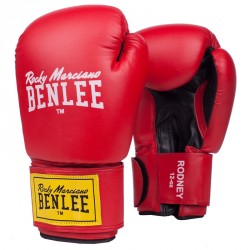 Benlee Artif. Leather Boxing Gloves Rodney Red Black