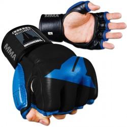Abverkauf Throwdown Amateur Hybrid Gloves Leder black Blue