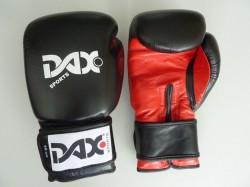DAX Boxhandschuhe Comfort schwarz rot Leder