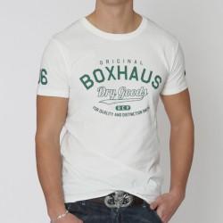 Abverkauf BOXHAUS Brand Levin Tee natural cotton XS u. S