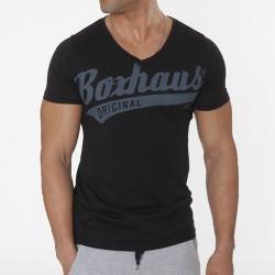 Abverkauf BOXHAUS Brand DRAFT V-Neck Modal T-Shirt black
