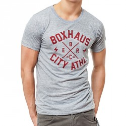 BOXHAUS Brand Core T- Shirt grey htr