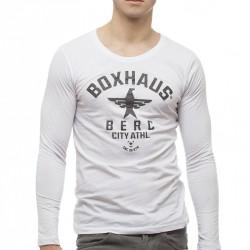 Summersale BOXHAUS Brand SOAR Longsleeve Shirt white