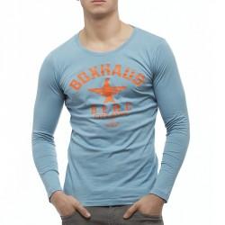 BOXHAUS Brand SOAR Longsleeve Shirt stone blue