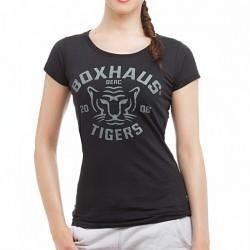 Summersale BOXHAUS Brand Tigers Woman T-Shirt black
