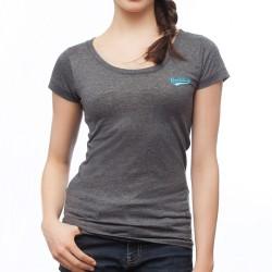 BOXHAUS Brand Sairon Women T-Shirt Darkgrey htr