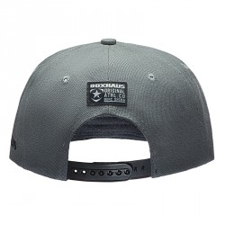 Abverkauf BOXHAUS Brand Easton Snapback Cap grey black