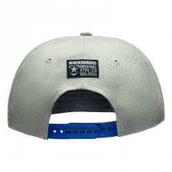 Abverkauf BOXHAUS Brand Easton Snapback Cap grey blue