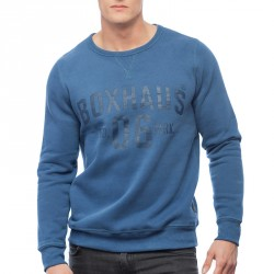 Summersale BOXHAUS Brand Fynch Sweatshirt laneblue