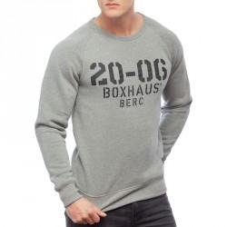 Abverkauf  BOXHAUS Brand Cortez Sweatshirt grey htr