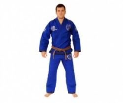 Okami BJJ Competition Gi Kanji blue