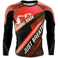 Elevation Training Mask Just Breathe Red LS Rashguard
