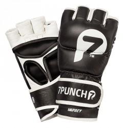 7Punch Impact Leder MMA Handschuhe black