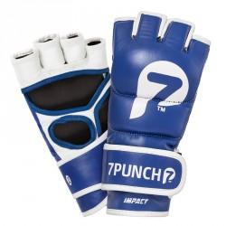 Abverkauf 7Punch Impact Leder MMA Handschuhe blue
