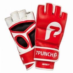 7Punch Impact Leder MMA Handschuhe red