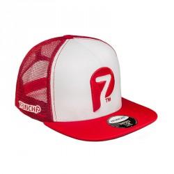 7Punch Snapback Trucker Cap red