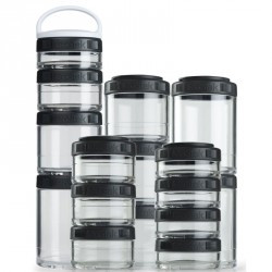 Blender Bottle Go Stak schwarz