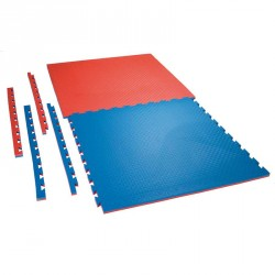 Puzzle Wendematte Checker 2cm rot blau