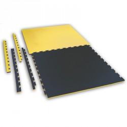 Puzzle Wendematte Checker 2cm schwarz gelb