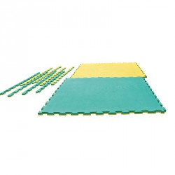 Puzzle Wendematte Grappling gelb grün