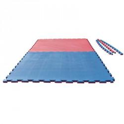 Puzzle Wendematte Korea 2cm rot blau
