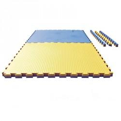 Puzzle Wendematte Tatami 4 cm blau gelb