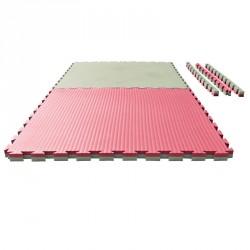Puzzle Wendematte Tatami 4 cm rot grün